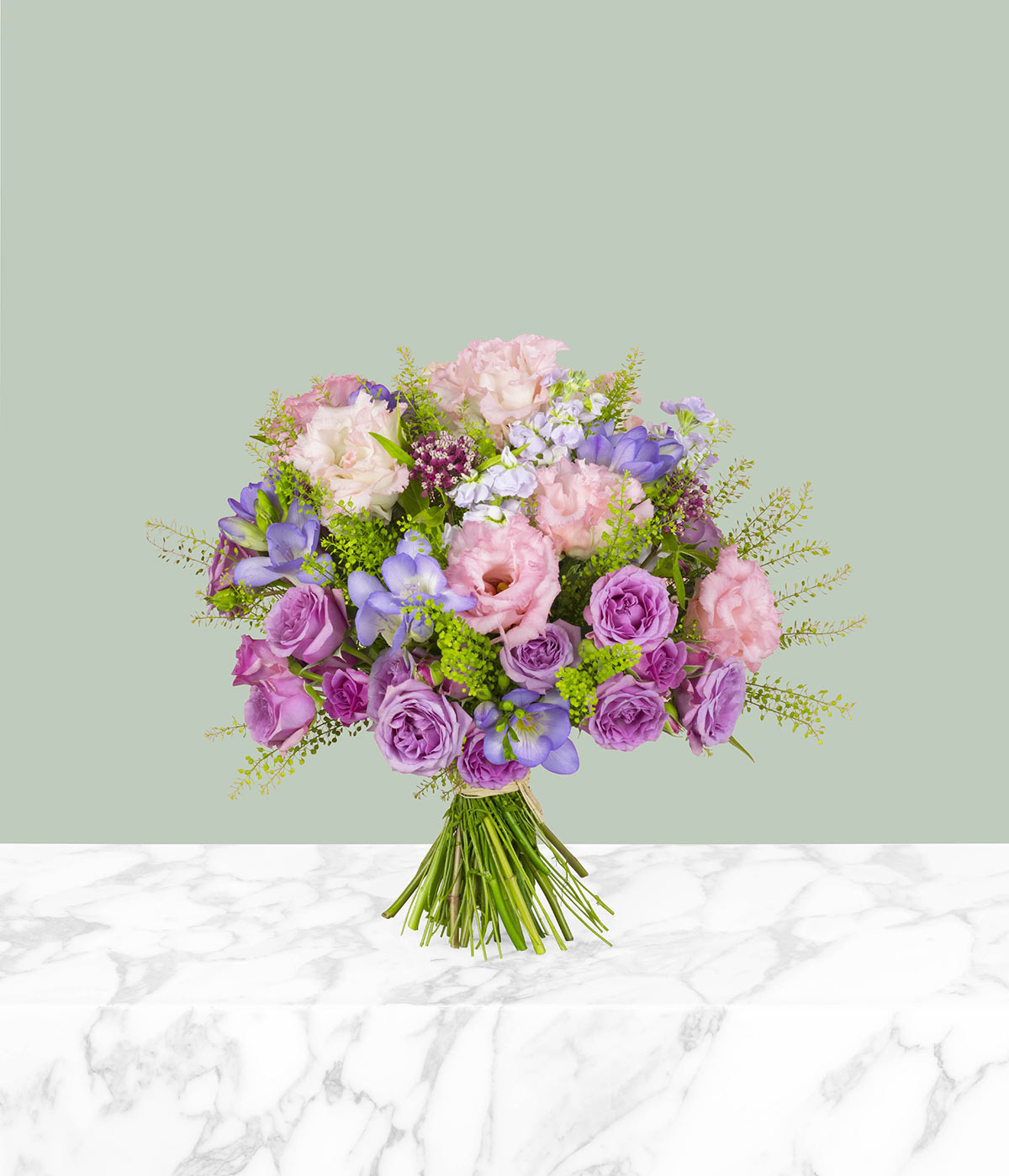 Giverny Rose Eustoma Flower Bouquet by flannel flowers florist
