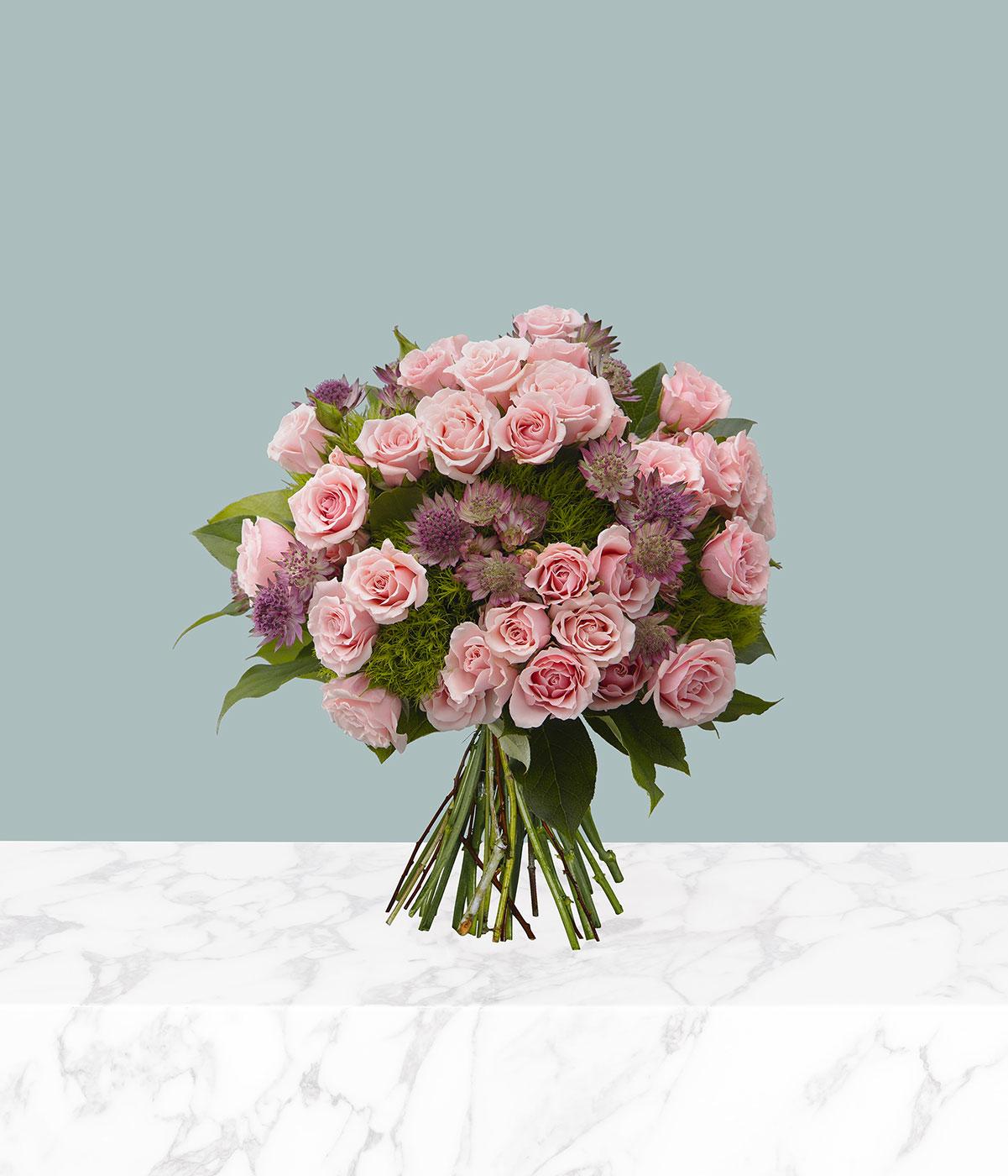Haiku Pink Rose Flower Bouquet by flannel flowers florist